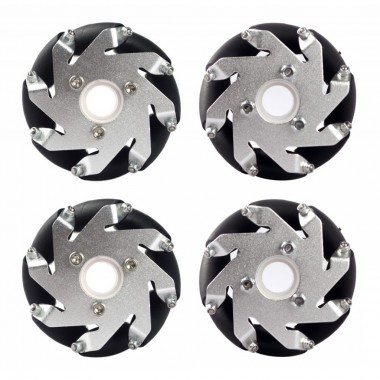 A Set of 60mm LEGO Compatible MecanumWheel (4 pieces)/Bearing Rollers
