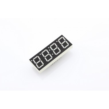 Green 7-segment clock display - 0.39 digit height(Common Anode)