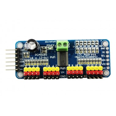 16 Channel PWM Servo Driver with I2C Interface