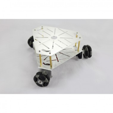 3WD 48mm Omni Wheel Robot platform chassis Silver (with encoder)