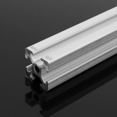 Silver 500mm Length 2020 T-Slot Aluminum Profiles Extrusion Frame For CNC