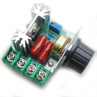 2000W 50V-220V Adjustable Voltage Regulator PWM AC Motor Speed Controller