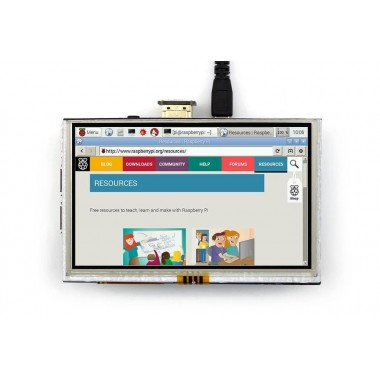 HDMI Interface 5 Inch 800x480 TFT Display