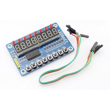 TM1638 8 Digit Digitron Display with Button