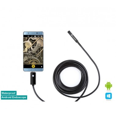 8mm Waterproof Android OTG Endoscope USB Inspection Snake Tube External Camera?5M)