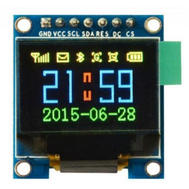 0.95 Inch 7pin Full Color 65K Color SSD1331 SPI OLED Display