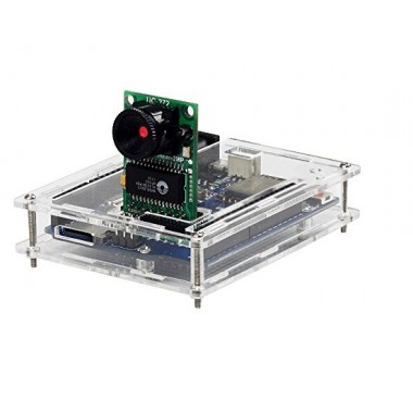 Arducam ESP8266 UNO Kit Included Development Board OV2640 Mini Module Camera Shield and Clear Acrylic Case Compatible with Arduino UNO R3