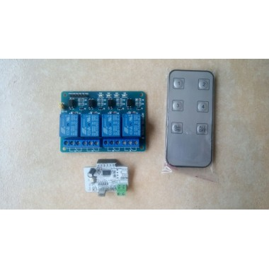4-way infrared remote control with relay