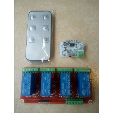 4-way infrared remote control with double power relay